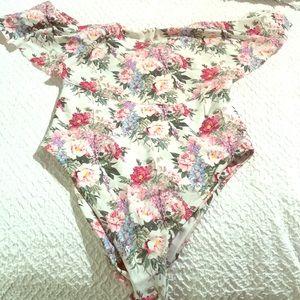 Mumu off the shoulder one piece swimsuit